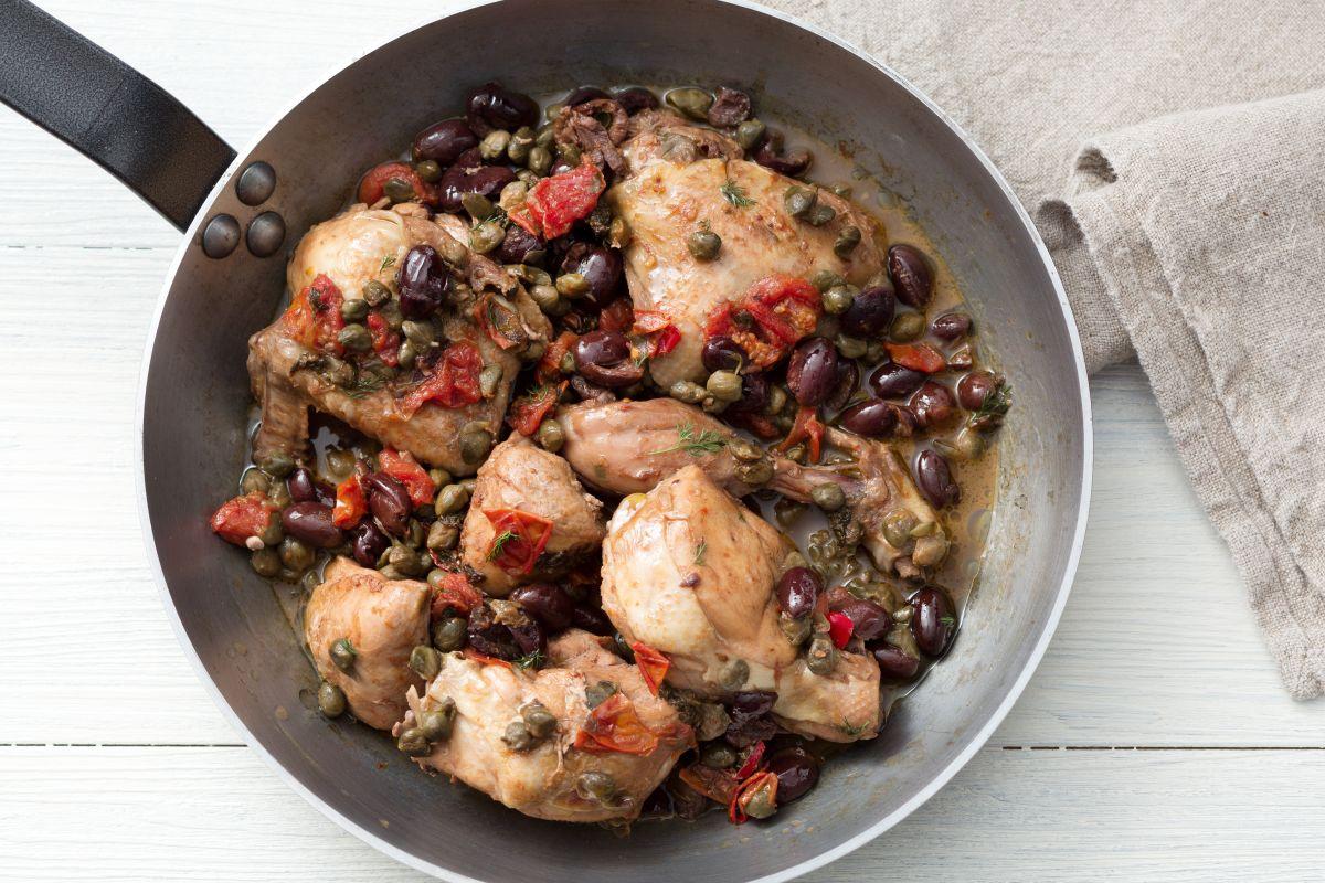 Sicilian-style chicken