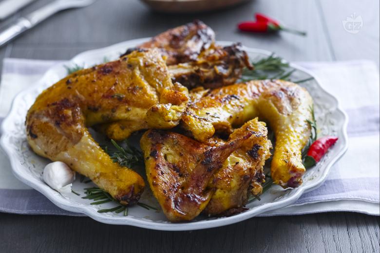 Pollo alla diavola (grilled chicken)