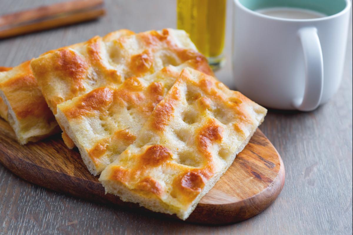 Ricetta In Inglese Focaccia.Focaccia Fugassa Alla Genovese Genoa Style Focaccia Italian Recipes By Giallozafferano