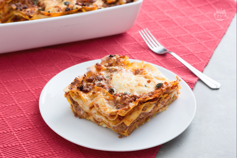 Lasagne with sausage ragu
