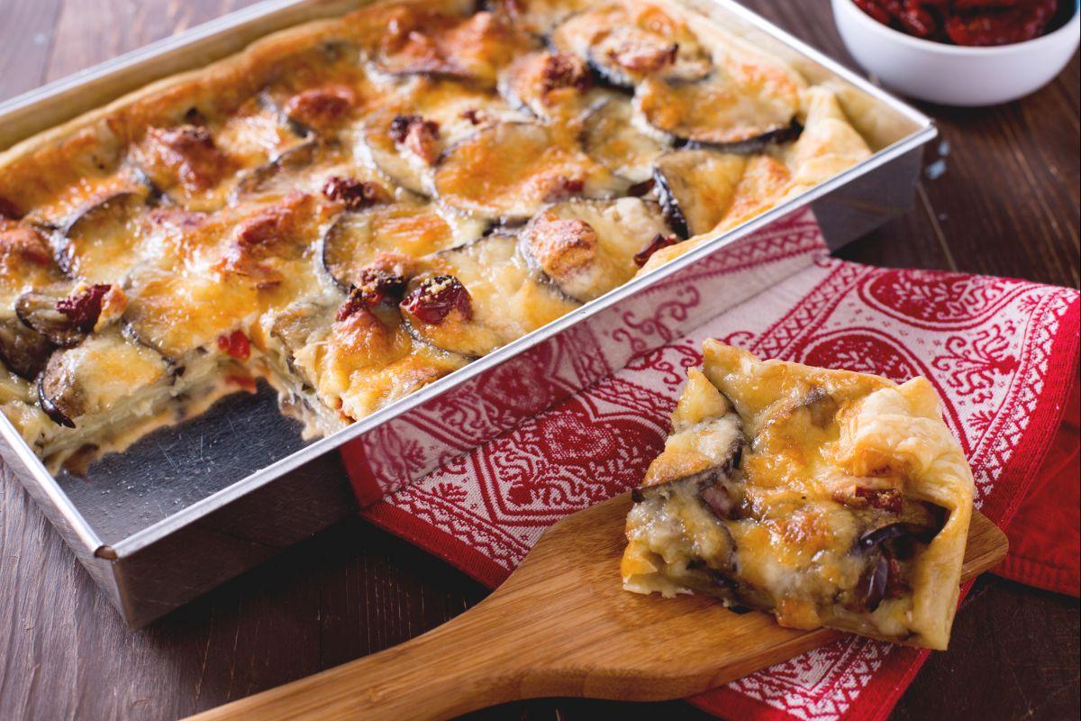 Savory eggplant pastry