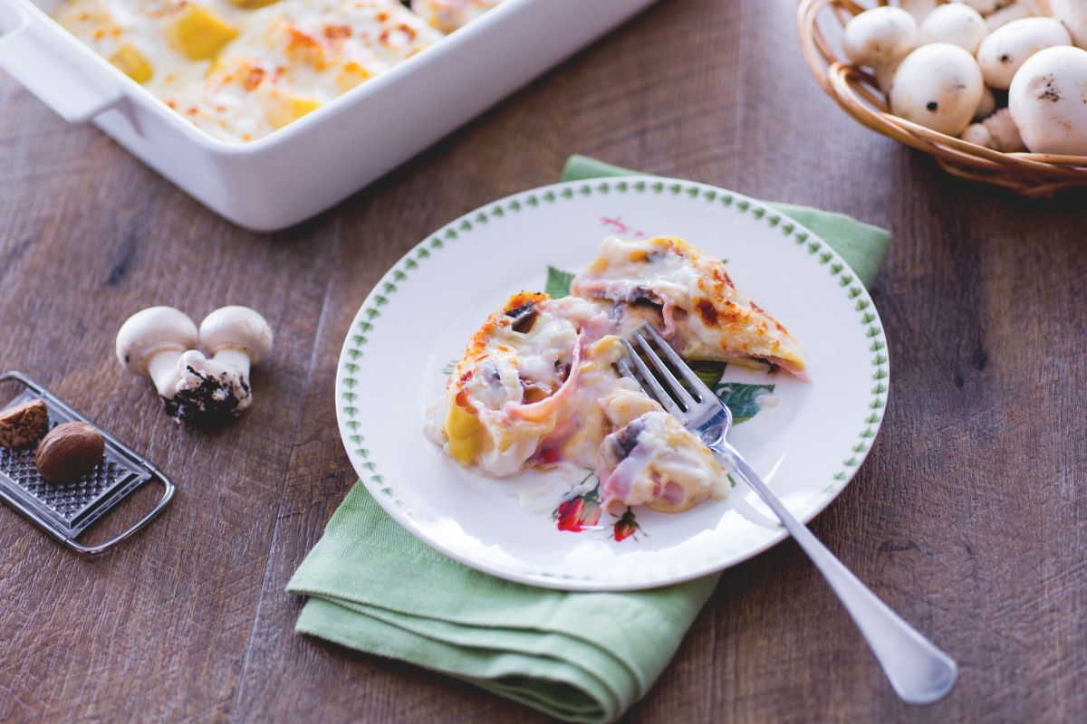 Baked pasta nests
