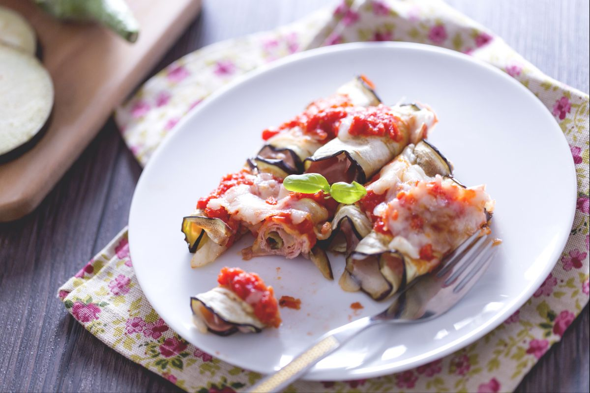 Eggplant roulades
