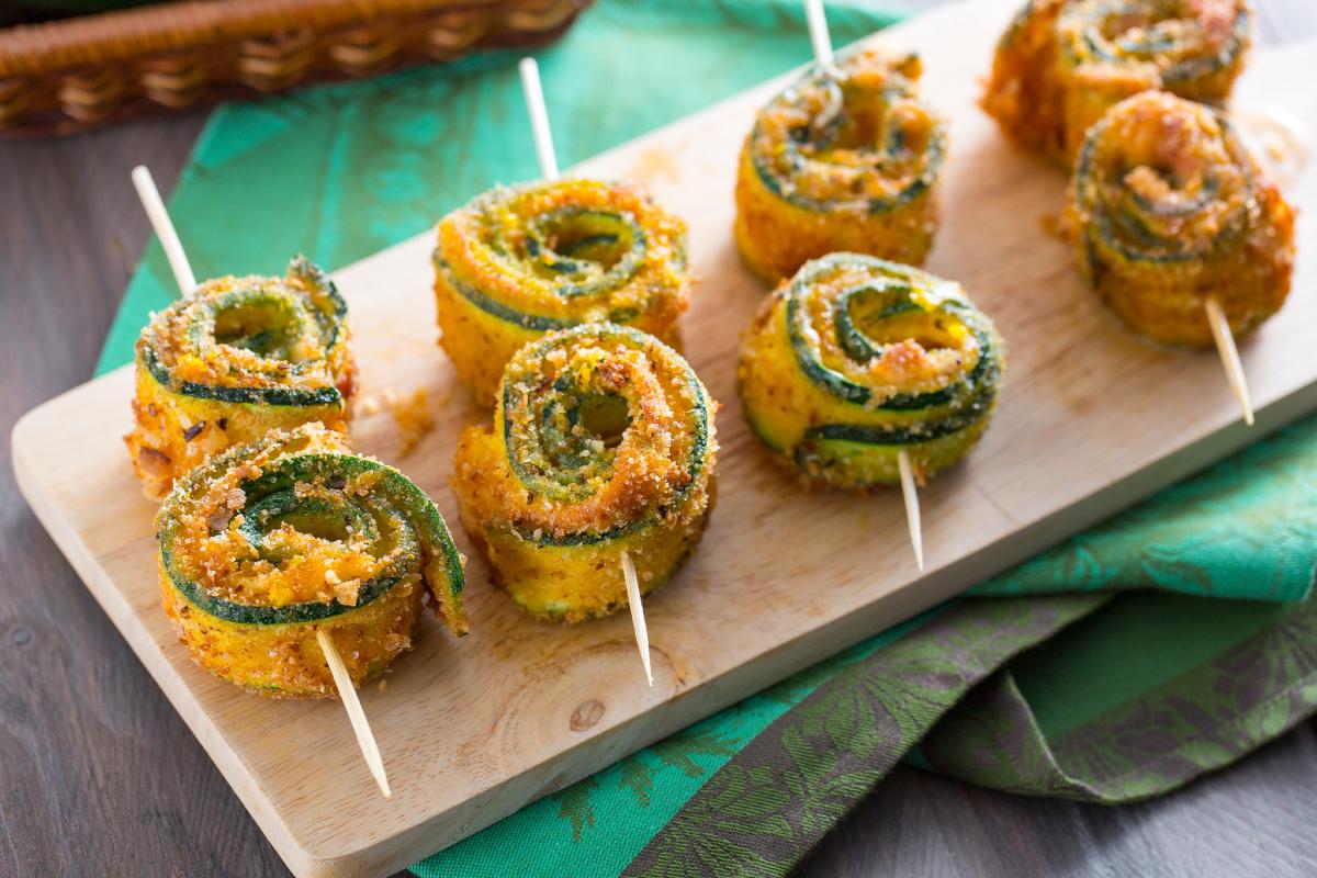 Stuffed zucchini swirls